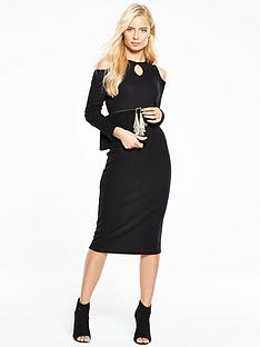 v-by-very-ribbed-midi-dress-with-keyhole-detail