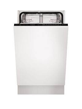 Aeg Favorit F55412Vi0 Fully Integrated Slimline Dishwasher  White