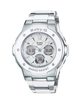 Casio Casio Baby G Pretty Tough White Dial Stainless Steel Bracelet Ladies Watch