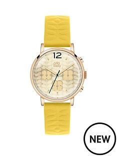 orla-kiely-orla-kiely-patterned-dial-yellow-strap-ladies-watch