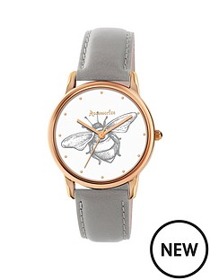 accessorize-accessorize-white-bee-print-dial-rose-tone-case-grey-strap-ladies-watch