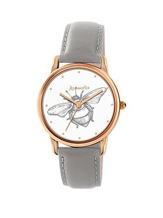 accessorize-white-bee-print-dial-rose-tone-case-ladies-watch