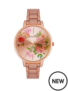 accessorize-accessorize-flower-dial-rose-tone-ladies-bracelet-watch