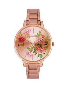 accessorize-flower-dial-rose-tone-ladies-bracelet-watch