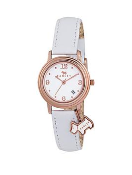 radley-radley-white-dial-rose-tone-dial-white-leather-strap-ladies-watch