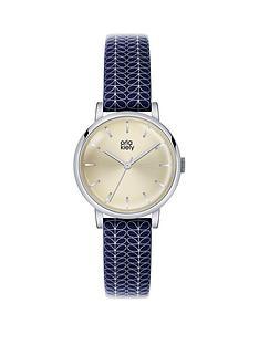 orla-kiely-orla-kiely-patricia-plain-dial-navy-patterned-leather-strap-ladies-watch