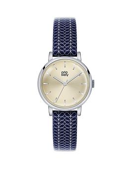 orla-kiely-orla-kiely-patricia-plain-dial-navy-patterned-leather-strap-ladies-watch