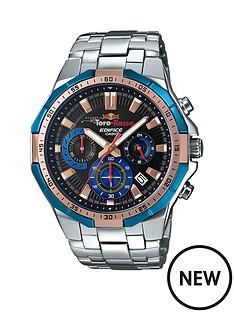 casio-casio-ediface-toro-rosso-black-dial-blue-bezel-stainless-steel-bracelet-mens-watch