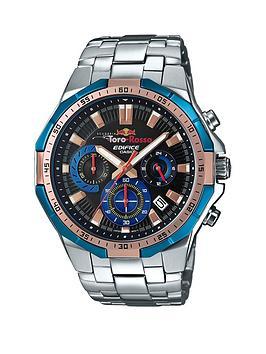 casio-casio-edifice-toro-rosso-black-dial-blue-bezel-stainless-steel-bracelet-mens-watch