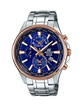 casio-edifice-blue-dial-rose-tone-accents-stainless-steel-bracelet-watch