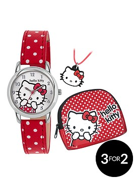 hello-kitty-hello-kitty-white-dial-red-dotty-strap-kids-watch-necklace-amp-purse-gift-set