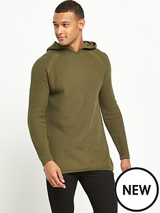 river-island-longline-textured-knitted-hoody