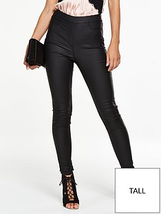 v-by-very-tall-charley-high-rise-side-zip-coatednbspjeggingnbsp--black