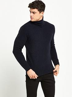 river-island-smart-textured-roll-neck-jumper