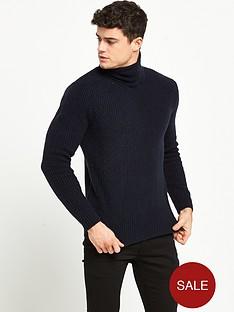 river-island-smart-textured-roll-neck-jumper