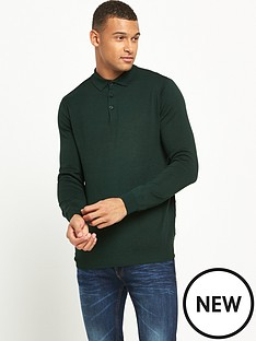 river-island-long-sleeve-knitted-polo-top