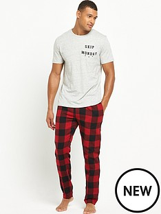 river-island-woven-checked-pyjama-set
