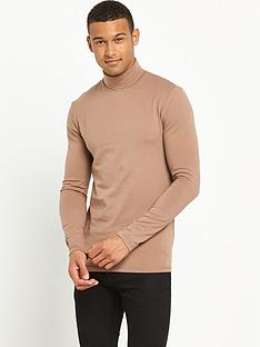river-island-musle-fit-roll-neck-jersey-top