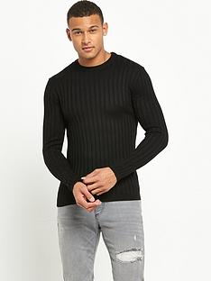 river-island-chunky-ribbed-muscle-fit-knitted-jumper