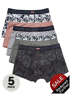 river-island-5pk-skeleton-low-rise-trunks