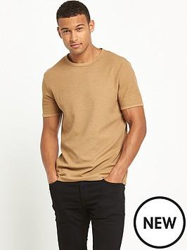 river-island-short-sleeve-waffle-textured-tshirt
