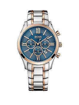 hugo-boss-black-hugo-boss-boss-black-ambassador-blue-dial-chronograph-two-tone-stainless-steel-mens-watch