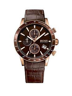 hugo-boss-black-rafalenbspchronograph-dial-brownnbspleather-strap-mens-watch