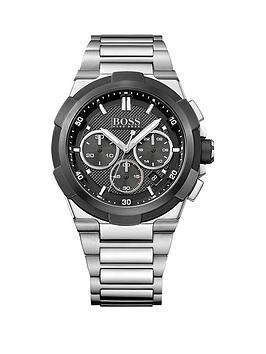 Hugo Boss Black Hugo Boss Boss Black Supernova Grey Dial Stainless Steel Bracelet Mens Watch