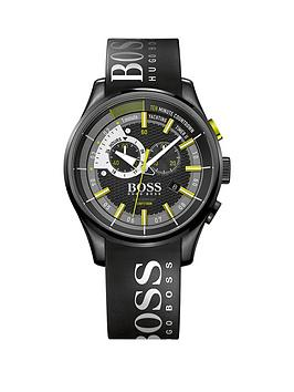 Hugo Boss Black Hugo Boss Boss Black Yachting Timer Ll Black Dial Green Accents Mens Watch