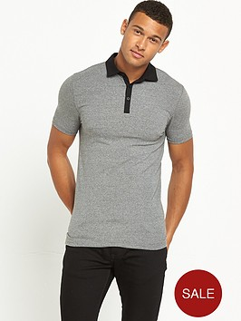 river-island-muscle-fit-short-sleeve-polo