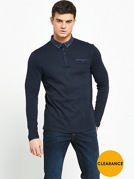 river-island-long-sleeve-jersey-polo