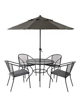 Capri Mesh 6Piece Dining Set