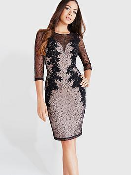 little-mistress-lace-appliqueacutenbspbodycon-dress