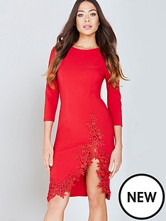 little-mistress-crochet-trim-bodycon-dress