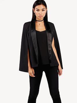 girls-on-film-satin-lapel-cape-jacket-black