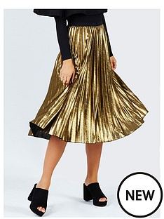girls-on-film-metallic-pleat-midi-skirt