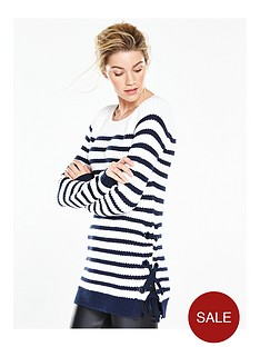v-by-very-chunky-stripe-eyelet-tie-side-jumper