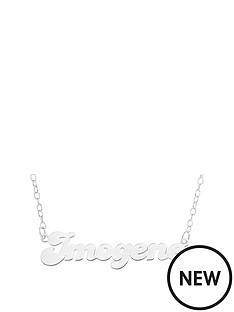 personalised-sterling-silver-bubble-font-name-necklace