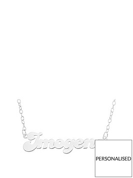 the-love-silver-collection-personalised-sterlingnbspsilver-bubble-font-name-necklace