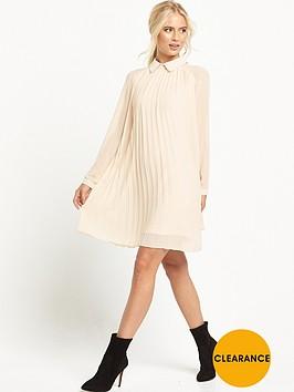 tfnc-collar-pleated-dress