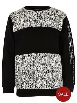 river-island-boys-black-block-jacquard-sweatshirt