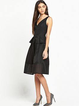 lost-ink-gabriella-textured-stripe-dress-black