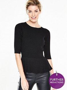 v-by-very-peplum-rib-jumper