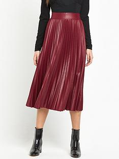 lost-ink-coated-pleated-skirt