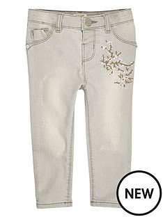 river-island-mini-girls-grey-embroidered-skinny-jeans