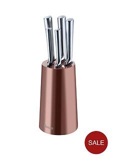 swan-townhouse-5-piece-knife-block-set-in-copper