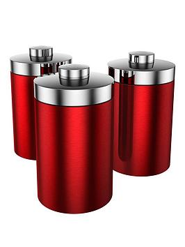 Swan Townhouse Storage Canisters  Red