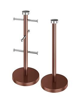 Swan Townhouse 2Piece Accessory Set  Copper