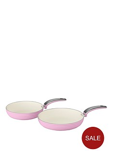 swan-retro-set-of-2-frying-pans-ndash-pink