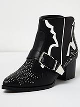 Rodger Studded Boot - Black